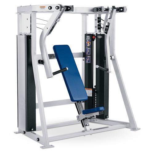 Urządzenie do ćwiczeń mięśni klatki piersiowej- wypychanie pod kątem D70