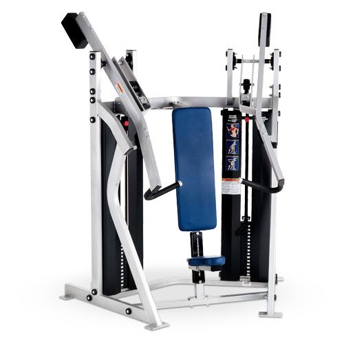 Urządzenie do ćwiczeń mięśni klatki piersiowej- wypychanie pod kątem prostym D74