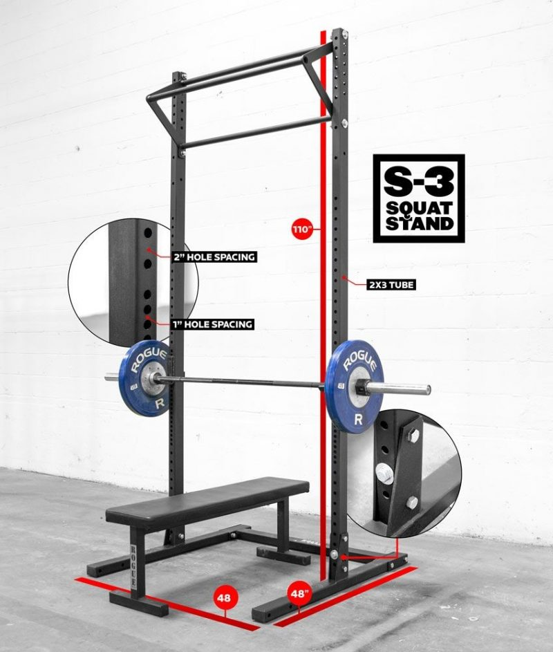 Squat Rack With Pull Up Bar L100824